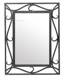 decorative iron mirror