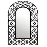rectangular mexican iron mirror