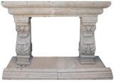 Handmade Stone Fireplace