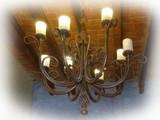 hand made iron chandelier