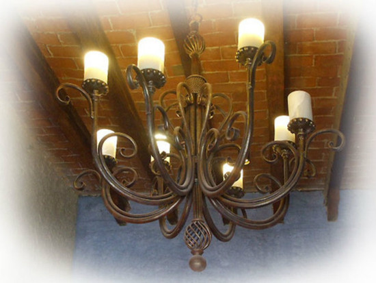hand made iron chandelier