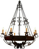 wonderful iron chandelier