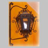 hand forged outdoor iron lantern