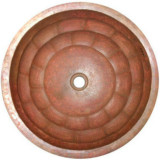 round handcrafted copper bath sink
