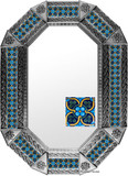 metal tin mirror tile hand made