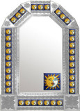mexican colonial natural tin mirror