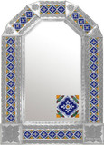 mexican Spanish natural tin mirror