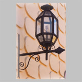 decorative outdoor wall iron lantern