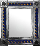 mexican wall mirror with folk art tiles