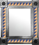 mexican mirror with handmade tiles