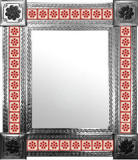 mexican mirror with fabricated tiles