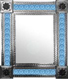 mexican mirror with San Miguel tiles