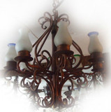 hand forged iron chandelier