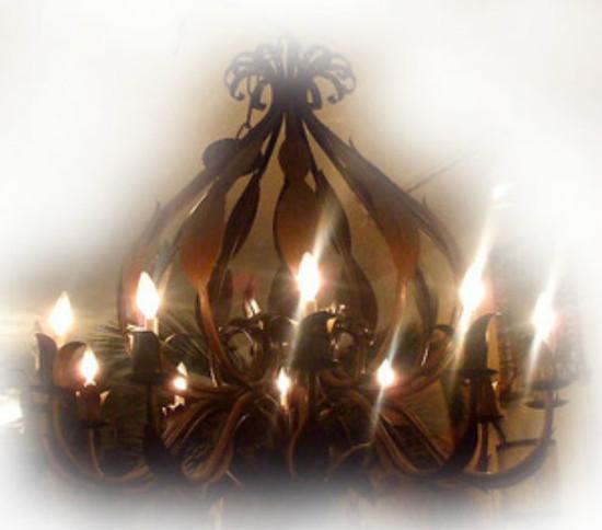 artisan made iron chandelier