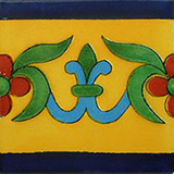 artisan crafted talavera tile yellow