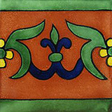 artisan made talavera tile terracotta