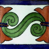 talavera tile green cobalt