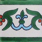 handcrafted talavera tile blue green