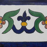 painted talavera tile cobalt green