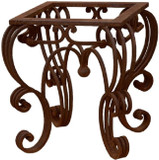 traditional forged iron table base