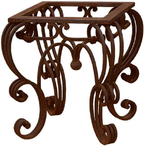 Traditional forged iron table base for Forged iron table base