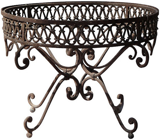 Mexican forged iron table base for Forged iron table base