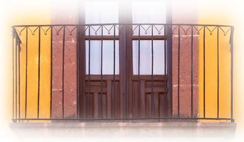 handmade forged iron balcony