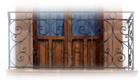 old European forged iron balcony