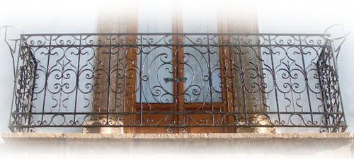 flair forged iron balcony