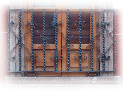 handcrafted forged iron balcony