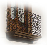 style forged iron balcony