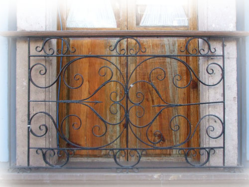 Moorish forged iron balcony