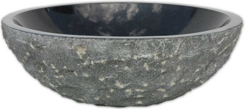 spanish round stone bathroom sink