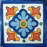 Hand made rustic mexican tiles