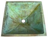 square bronze bath sink
