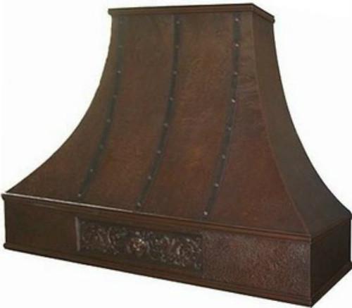 Copper Vent Hoods ~ Copper vent hood hammered