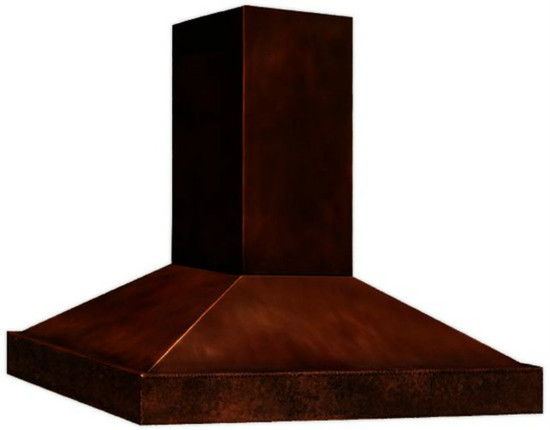 contemporary copper range hood light
