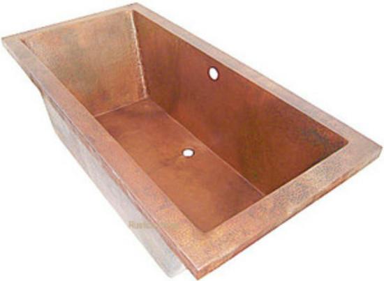 Drop In Copper Bathtub Hammered