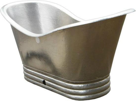 nickel platted copper bathtub