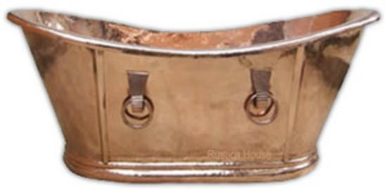 polished copper bathtub