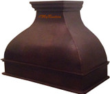 decorative metal copper range hood