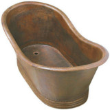 free standing copper bathtub