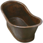 free standing copper bathtub hammered
