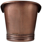 patina copper tub front view