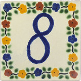 tile plaque number 8