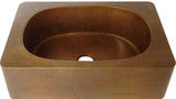 apron copper bar sink handcrafted