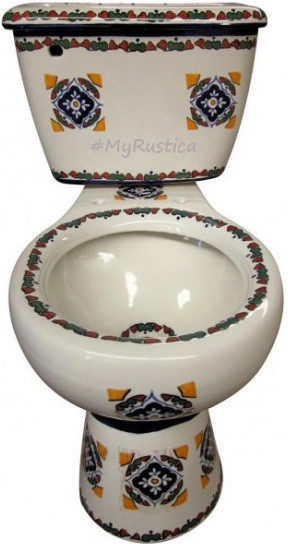 Hand Made Artistic Mexican Toilet