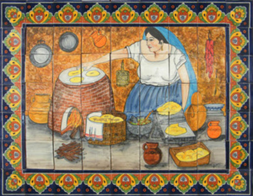 Tile Mural Cooking