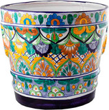 Mexican Pottery Flower Pot talavera pot 05-07