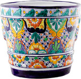 Mexican Pottery Flower Pot talavera pot 05-05